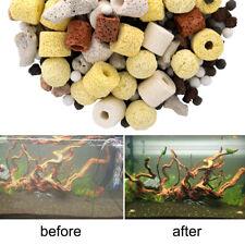 Aquarium Fish Tank Filter Media Activated Carbon Ceramic Ring Biological Ball~