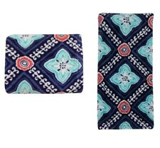 2 Mainstays Deluxe Premium Multiple Diamonds Reactive Kitchen Towels
