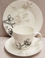 Maxwell & Williams Cashmere Moon Shadow Pattern Trio Cup Saucer Plate c2010-2011