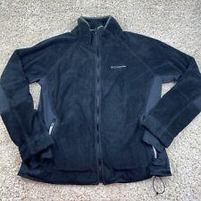 columbia womens XL black fleece zip up jacket