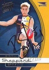 ✺Signed✺ 2015 WEST COAST EAGLES AFL Card BRAD SHEPPARD