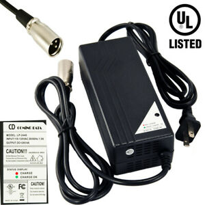 24V 4A 3-Pin XLR Battery Charger For Mobility Pride Scooter Jazzy Power Chair
