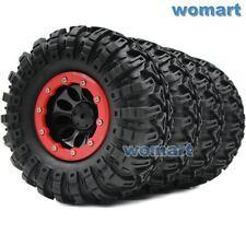 4pc RC 2.2 Tires 130mm & 2.2 Beadlock Wheels Rims Fit 1/10 RC 4WD Axial Crawler