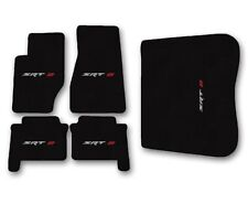 2005-2008 Jeep Grand Cherokee SRT 8 - Black Carpet 5pc Floor Mat Set with Logo