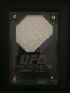 Ronda Rousey Liz Carmouche fight used canvas First ever women's UFC fight