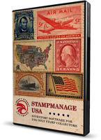 Stamp Inventory Software USA - USB Edition. SCOTT™ Licensed Catalog #s.