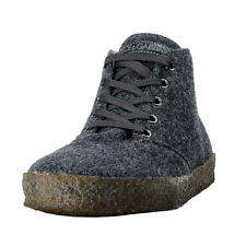 Dolce & Gabbana Men's Gray Wool & Leather Ankle Boots Shoes US 6 IT 5 EU 39
