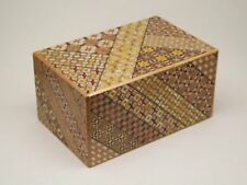 Hakone Yosegi Secret Puzzle box 14 steps gimmick double bottom Japan Import F/S