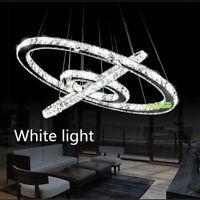 Modern Ring Crystal LED Pendant Lamp Round Chandelier Ceiling Light Fixture