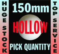 150mm 6 inch 15cm Polystyrene Balls in 2 HOLLOW HALVES for craft & decoration
