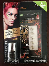 Covergirl Hunger Games BLACK HEAT Nail Duo Polish Art Limited Edition