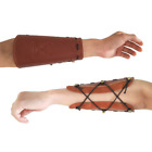 Archery Arm Guard Protector Gear Traditional Leather Bracer For Recurve Bow Hunt