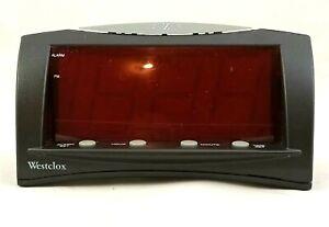 "Westclox (Black) 66705 1.8"" Red LED Oversized Digital Snooze Alarm Clock"