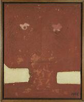 B1-038. VISAGE RÉSUMÉ. HUILE SUR TOILE. SIGNÉ ESPLA. 1975.