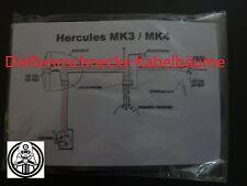 Hercules MK3/4 Kabelbaum Kabelsatz Nachbau incl. farbigem Schaltplan