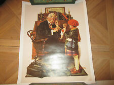 """Norman Rockwell  Print doctor and doll  12x15"""""""