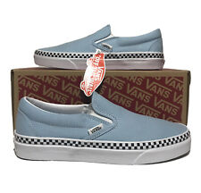 Vans Slip On Womens Size 9 Cool Blue Checker Retro Shoes Check Foxing