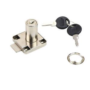 Zinc Alloy Cabinet Drawer Locks Desk Cabinet Locker Lock with 2 Keys C