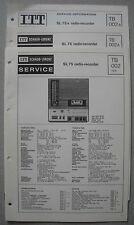 ITT/Schaub Lorenz SL 75 a Radio-Recorder Service Manual, tb002, tb002a, tb002b