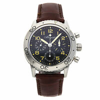 Breguet Type XX Aeronavale Chrono Auto Steel Mens Strap Watch 3800ST/92/9W6