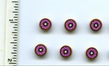 LEGO x 6 Tile, Round 1 x 1 with Doughnut with Dark Pink Frosting and Sprinkles