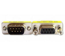DB9 RS232 9 Pin Male to Female Gender Changer Plug Adapter SGC-9MF