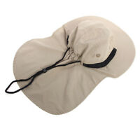 Unisex UV Protection Boonie Outdoor Fishing Brim Neck Cover Bucket Sun Flap Hat