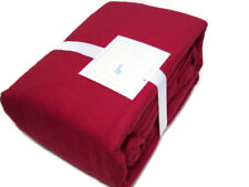 Pottery Barn Kids Solid Red Color Flannel Cotton Queen Sheet Set New