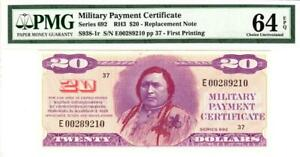 ***RARE REPLACEMENT*** Series 692 CHIEF $20 PMG 64 EPQ Choice Uncirculated- WOW!