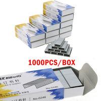 1000x Anti Ruggine Graffette Punti Metallici Per Graffettatrice 24/6 23/10 26/8