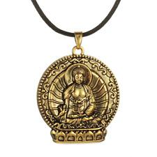 Buddha Necklace Meditation Pendant Amulet Talisman Buddhism Rose Gold