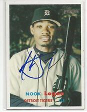 NOOK LOGAN Autographed Signed 2006 Topps Heritage card Detroit Tigers COA
