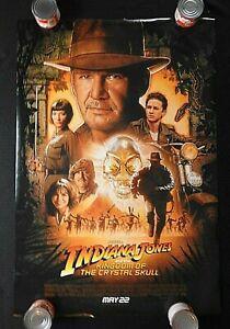 "2008 ""INDIANA JONES KINGDOM CRYSTAL SKULL"" 27"" by 41"" Movie Poster Harrison Ford"