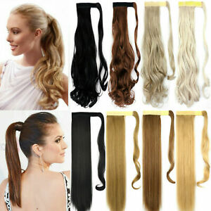 Magic Ponytail Hair Extensions Synthetic Natural Human Straight/Wave All Colour