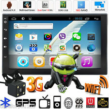 """Camera+Android Quad Core 7"""" Double 2Din Car Stereo GPS MP5 Player Radio Wifi 3G"""