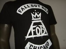 Nwt Men's XXL Black Fall Out Boy FOB Crown Chicago Punk Rock Band Logo Tee Shirt