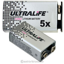 """5x LITHIUM 9V Block ULTRALIFE Hi ENERGY Batterie U9VL"