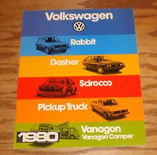 Original 1980 Volkswagen VW Full Line Sales Brochure 80 Rabbit Vanagon Pickup