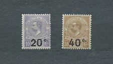 MONACO - 1919 YT 11 à 12 TAXE - TIMBRES NEUFS* trace de charnière