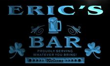 x0033-tm Eric's Home Bar Shamrock Custom Personalized Name Neon Sign