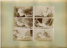 Calavas, France, Paris, Nus Vintage albumen printsnapshot 6 photos 6 x 10cm su