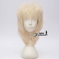 Retro Halloween Dolly Parton 40cm Country Music Light Blonde Cosplay Anime Wig