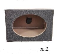 "Pair of 6x9 Single Wedge Style Speaker Enclosure Subwoofer Car Truck 6""x9"" Box"