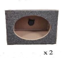 "Pair of 6x9 Single Wedge Style Speaker Enclosure Subwoofer Car Truck 6""x9"" Box"