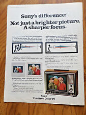 1970 Sony TV Television Ad Trinitron Color TV Sony's Difference