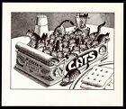 B Kliban Cats SARDINE CATS vintage funny cat art print
