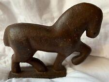 Antique Cast Iron Horse 4' Child door stop Rare