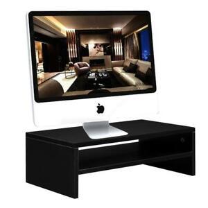 Computer Monitor Riser Laptop Screen TV Desktop Stand Storage Table 2-Shelf