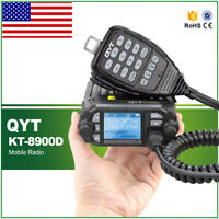 QYT KT- 8900D Quad display mini dual band mobile radio with program cable KY