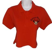 New! Large DISNEY MINNIE MOUSE CROPPED CROP TOP SEXY JR WOMEN POLO SHIRT